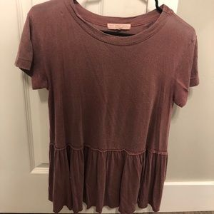 Burgundy flowy top from urban outfitters